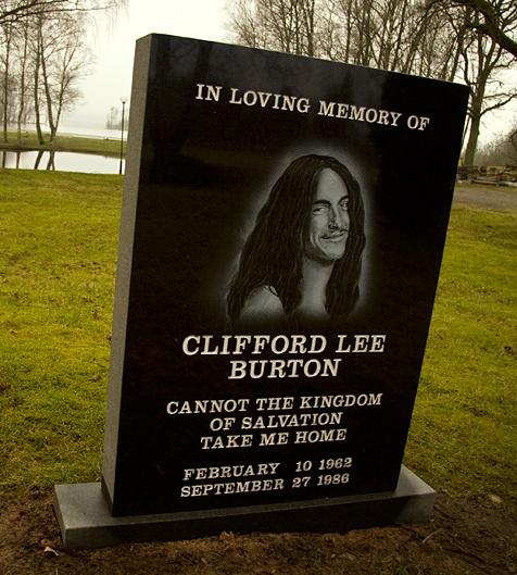 Cliff Burton's memorial in Ljungby, Sweden