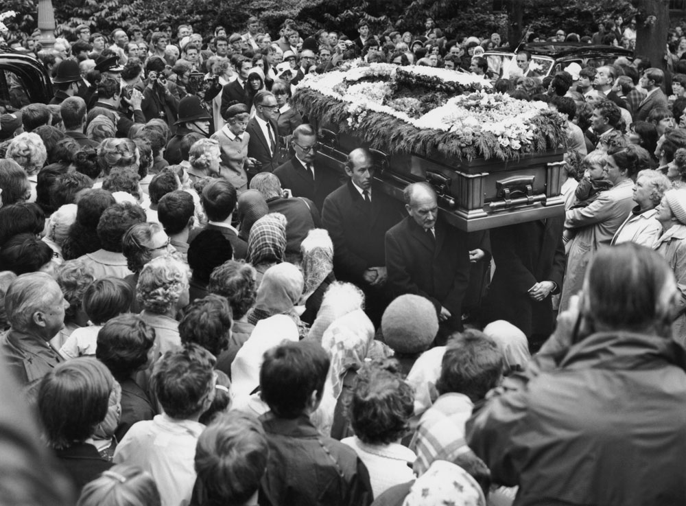 Brian Jones Beerdigung
