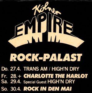 Iron Maiden Flyer Empire Köln