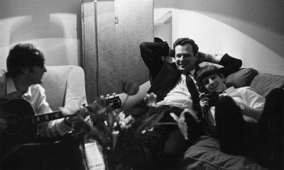 John Lennon, Brian Epstein und Ringo Starr