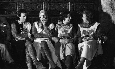 """Monty Python am Set von """"Die Ritter der Kokosnuss"""""""